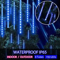 Meteor Shower Falling String Light Raindrop Waterproof Yard Garden Outdoor Decor