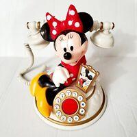 Disney MINNIE MOUSE Talking Desk Telephone Segan TeleMania Vintage Works