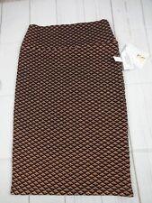 Lularoe Women's Elegant Cassie Copper & Black Skirt Size XS NWT - A2447