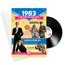 35th Birthday | Anniversary Gift -1983 4-In-1 Card,Book,CD and Download