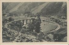 Eisenbahn, Puschlav, Kehre der Berninabahn bei Brusio, alte Ak um 1920