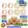 LONG LENGTH STRONG PACKING TAPE - BROWN / CLEAR / FRAGILE 48mm x 66M PARCEL TAPE