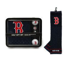 Boston Red Sox Golf Gift Set [NEW] MLB Towel Ball Divot Bag Golfing Tin