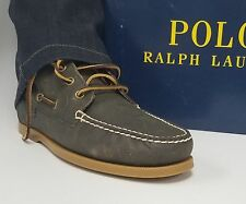 Polo Ralph Lauren Barrott Grey Waxy Pull Up Leather Ankle Boots 10 D US