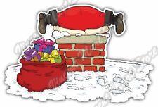 "Bad Fat Santa Chimney Merry Christmas Gift Car Bumper Vinyl Sticker Decal 5""X4"""