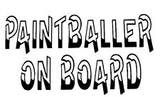 Paint Ball Decal- Window sticker Car Truck Fun Paint Gun Outdoor Vinyl Decal