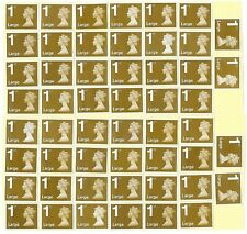 GB 50 1st CLASS LARGE LETTER STAMPS £64. FACE VALUE UNFRANKED OFF PAPER WITH GUM