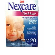 "3M NEXCARE OPTICLUDE JUNIOR 1537 Orthoptic Eye Patch 20 pcs 2.44"" x 1.81"""