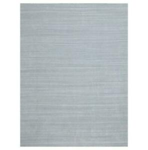 15x20 SOLID GRAY Authentic Hand Knotted Contemporary Wool Rug B-79431
