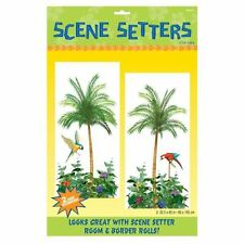 2pk Palmera Escena Setters Add-on 85cmx1.65m isla tropical hawaiano Vajilla