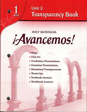 HOLT AVANCEMOS! 1:  UNIT 3 TRANSPARENCY BOOK - NEW