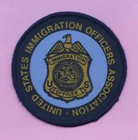 C3 * SILKSCREEN INS DOJ ENFORCEMENT OPS FEDERAL POLICE PATCH USC IMMIGRATION