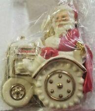 New Rare Collectible 1999 National Farm Journal Porcelain Santa Tractor Ornament