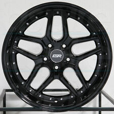 "4-New 18"" ESR CS15 Wheels 18x8.5/18x9.5 5x120 30/35 Gloss Black Staggered Rims"