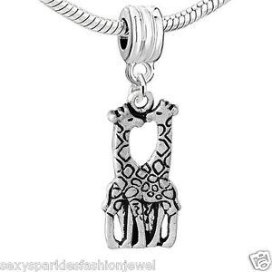 Giraffe in Love Charm Bead for European Snake Chain Charm Bracelet …3712