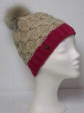 MANILA GRACE exklusive Damen Woll-Mütze, beige / rot, NP.: 109,-