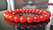 "Genuine Carnelian Bead Bracelet for Men or Women (On Stretch) 8mm AAA 7.5"" inch"