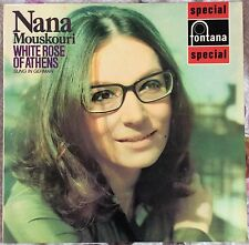 NANA MOUSKOURI,WHITE ROSE OF ATHENS,IN GERMAN, LP 33,ALBUM.EXCELLENT CONDITION.