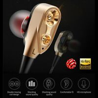 3.5mm W/ Mic Super Bass Music In ear Stereo Headphone Headset Earphone Earbuds