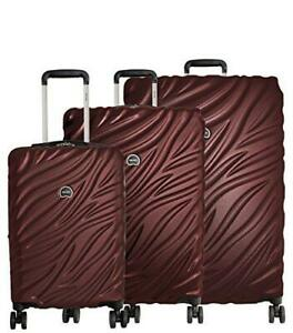 """DELSEY PARIS LUGGAGE ALEXIS 3-PIECE SPINNER HARDSIDE LUGGAGE SET (21""""/23""""/27"""")"""