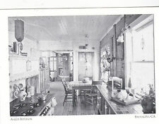 "*Postcard-""Ameer Ark Kitchen Interior""- @  *Houseboats of Sausalito, Ca. (#108)"