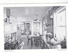 "+PC-Postcard-""Ameer Ark Kitchen Interior""- *Houseboats of Sausalito, Ca. (#108)"