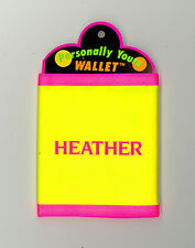 Personally Yours Wallet ~ HEATHER ~ Stocking Stuffer ~Yellow Personalized Wallet