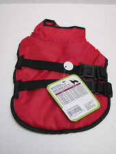 New listing Lookin Good Red Pet Coat trimmed in Black with two straps & fasteners. Fitx X-S