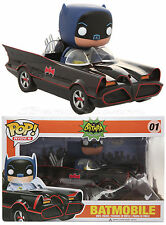 """NEW DC COMICS BATMAN BATMOBILE POP! RIDES Vinyl Collectible 3 3/4"""" Figure Funko"""