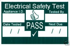 1000 PAT Test Pass Labels. Waterproof Plastic Durable.