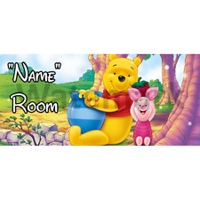 Winnie The Pooh Personalised Bedroom Door Sign / Plaque – Any Text/Name (4)