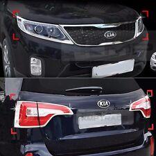 For KIA 13-14 Sorento R Chrome Head Light Molding Rear Lamp Cover Garnish Trim