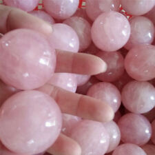 Healing Crystal Natural Pink Rose Quartz Gemstone Ball Divination Sphere FT