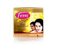 Fem Dabur Pearl Gold Saffron Oxylife Cream Creme Bleach Face Skin Whitening