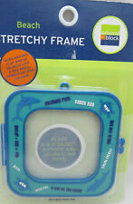 "Around The Block Precious Memories Beach Stretchy Frame - 3"" Blue"
