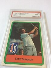 1982 Donruss Golf Scott Simpson #34 PSA 7