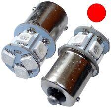 2x Ampoules 24V P21W R10W R5W 8LED SMD rouge pour camion semi-remorque portail