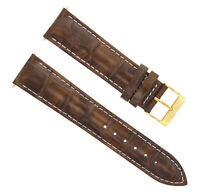 18MM LEATHER WATCH STRAP BAND FOR SEIKO SNK 809 793 LIGHT BROWN WHITE STIT GOLD