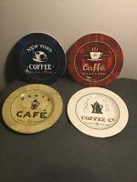 "Sakura Coffee Break Plates Canape Salad Lunch Dessert Plates 8"" Set Of 4 - VGPOC"
