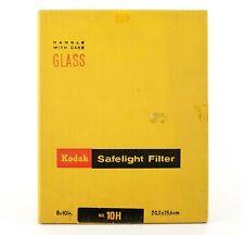 "KODAK  SAFELIGHT FILTER | 10H Dark Amber | 8 X 10"" | Colour Film Processing"