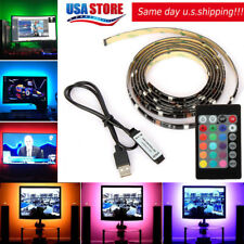 6.6FT LED TV USB Backlight Kit Computer RGB LED Light Strip TV Background Lights