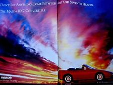 "1989 Mazda RX 7 Convertible-8.5 x 10.5 ""-2 Page Ad"