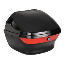 Motorcycle Top Box Luggage Helmet Storage Motorbike Back Rear Trunk Case Moped