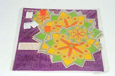 9 Vintage 1968 Rickie Tickie Stickie Op-Art Christmas Starburst Stickers Hippie