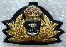 Royal Navy Officer Cap Badge KC RN Officer BADGE Bullion wire 70 mm New*