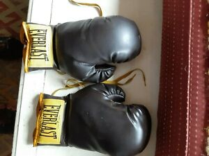 EVERLAST 2922 - PAIR OF VINTAGE  BROWN LEATHER BOXING GLOVES - USA MADE