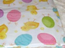 NEW CHICK HATCHING EGGS TABLECLOTH 52 X 90 Pink Blue Green Purple SPRING FARM