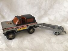 VINTAGE 1980'S BUDDY L CORP FORD MOTOCROSS 4x4 JEEP WITH TRAILER