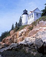 Maine BASS HARBOR Glossy 8x10 Photo Head Lighthouse Print Wall Art Poster