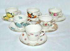 6 Beautiful Vintage Colclough, Fine Bone China Teacups & Saucers Lot EB6
